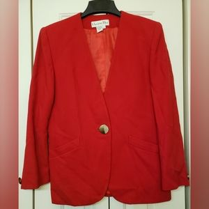 Christian Dior Red Wool Blazer 10